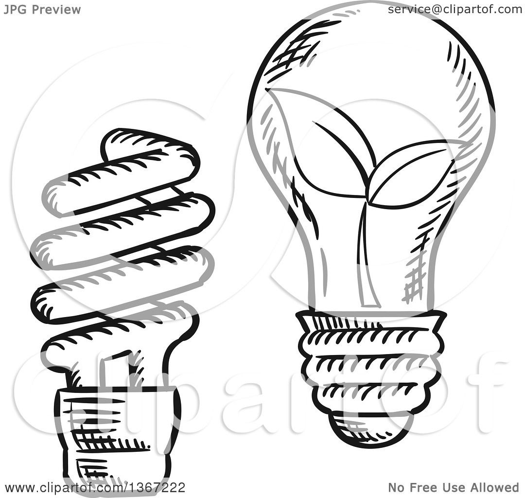Clipart Of Black And White Sketched Spiral And