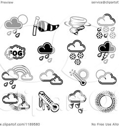 clipart of black and white weather forecast icons royalty free vector illustration by atstockillustration [ 1080 x 1024 Pixel ]