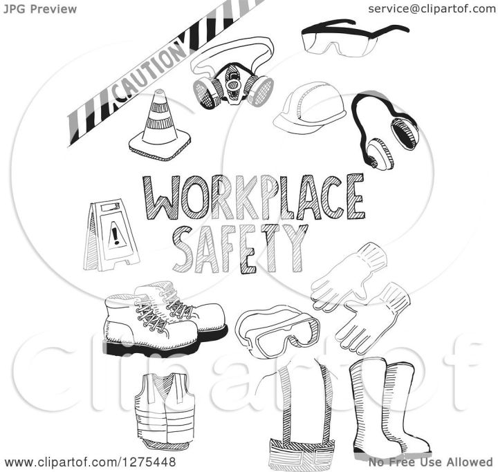 Workplace Safety Coloring Pages Siteandsitecom