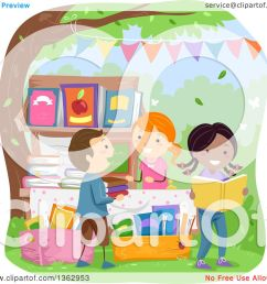 clipart of children shopping for books at a yard sale royalty free vector illustration by [ 1080 x 1024 Pixel ]
