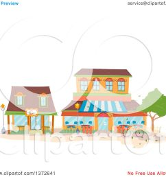 clipart of coffee shop buildings royalty free vector illustration by bnp design studio [ 1080 x 1024 Pixel ]