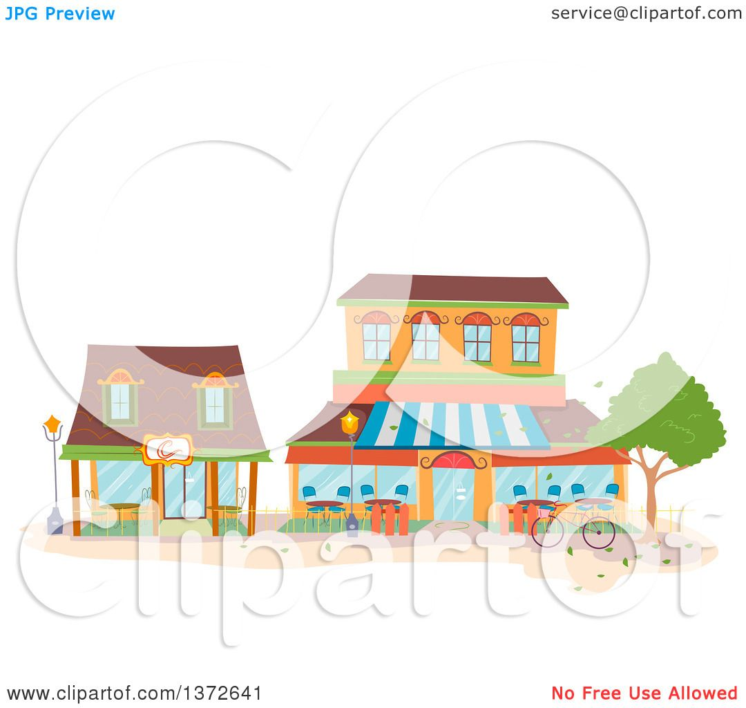 hight resolution of clipart of coffee shop buildings royalty free vector illustration by bnp design studio