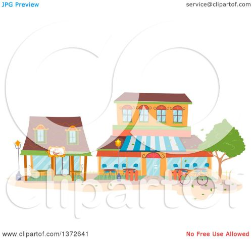 small resolution of clipart of coffee shop buildings royalty free vector illustration by bnp design studio