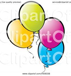 clipart of colorful party balloons royalty free vector illustration by lal perera [ 1080 x 1024 Pixel ]