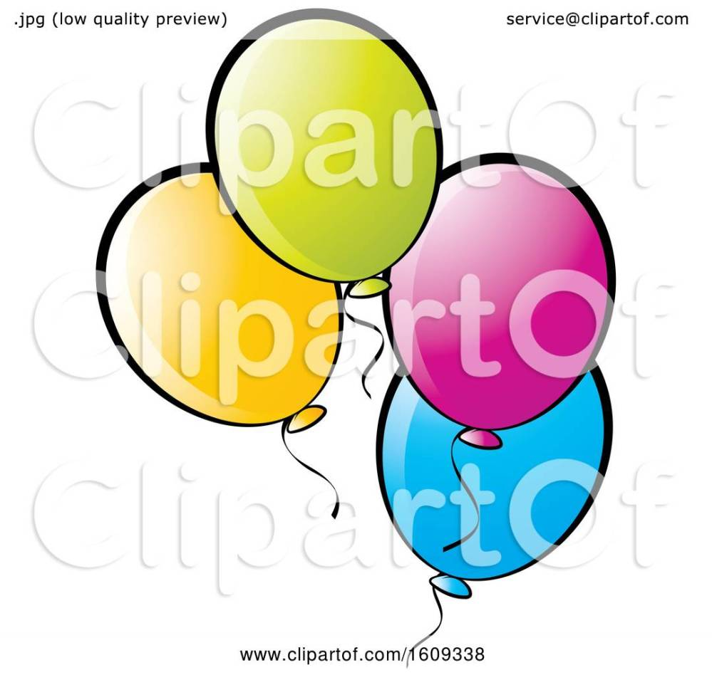 medium resolution of clipart of colorful party balloons royalty free vector illustration by lal perera