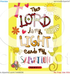 clipart of colorful sketched scripture the lord is my light and my salvation text in a [ 1080 x 1024 Pixel ]