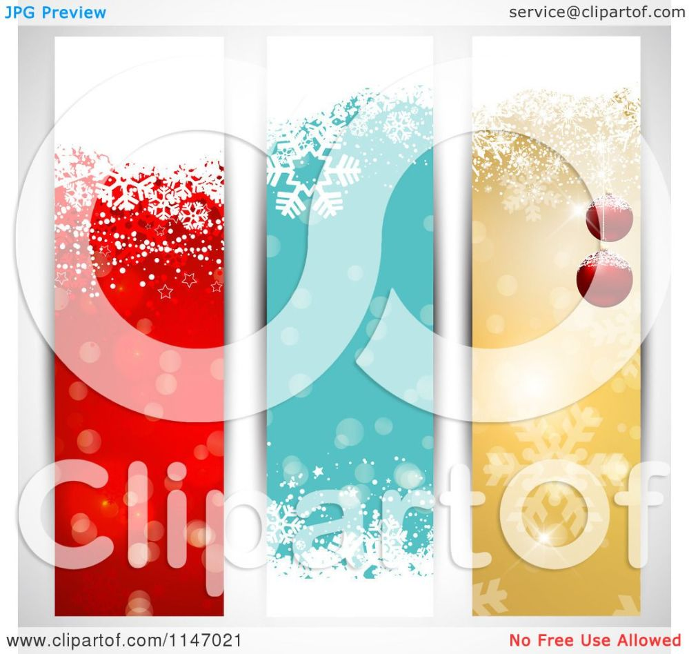 medium resolution of clipart of colorful vertical christmas website banners royalty free vector illustration by kj pargeter