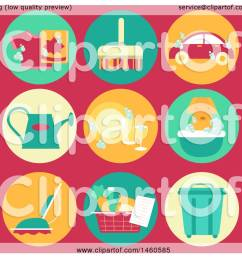 clipart of common household chore icons like laundry sweeping car wash watering plants [ 1080 x 1024 Pixel ]