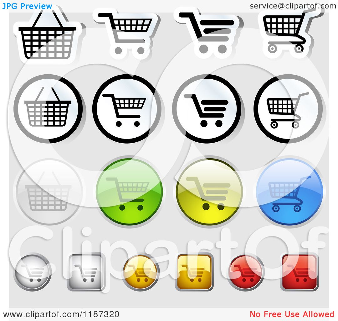 hight resolution of clipart of different styled shopping cart website icons royalty free vector illustration by dero