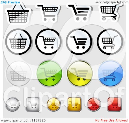 small resolution of clipart of different styled shopping cart website icons royalty free vector illustration by dero