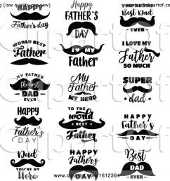 clipart of fathers day mustache designs royalty free vector illustration by vector tradition sm [ 1080 x 1024 Pixel ]