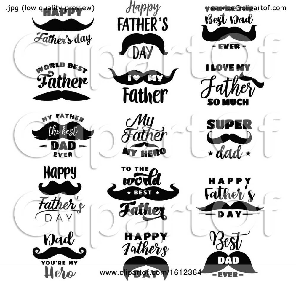 medium resolution of clipart of fathers day mustache designs royalty free vector illustration by vector tradition sm