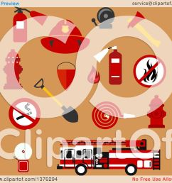clipart of flat fire department designs on tan royalty free vector illustration by vector tradition sm [ 1080 x 1024 Pixel ]