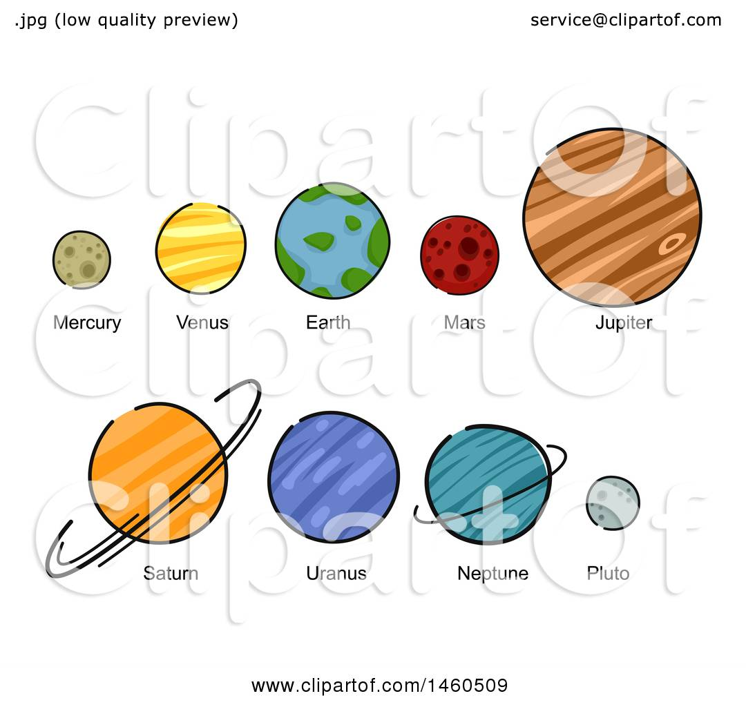 hight resolution of clipart of mercury venus earth mars jupiter saturn uranus neptune and pluto royalty free vector illustration by bnp design studio