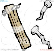 clipart of nails and wood - royalty