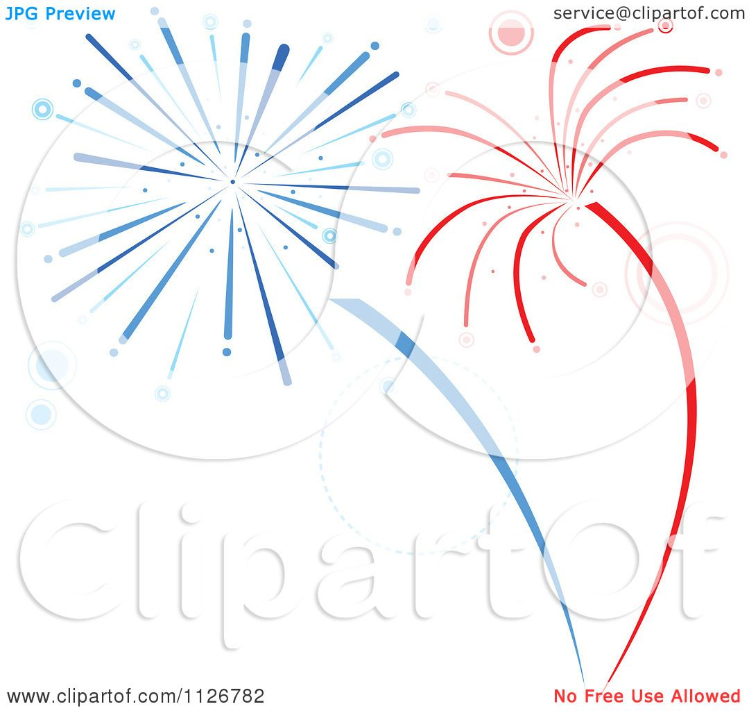 hight resolution of clipart of red and blue firework bursts royalty free vector illustration by dero
