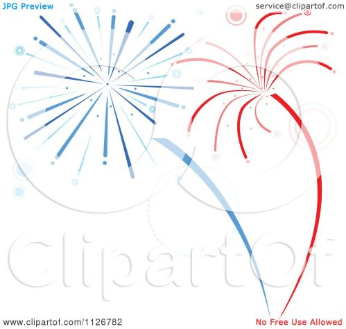 small resolution of clipart of red and blue firework bursts royalty free vector illustration by dero