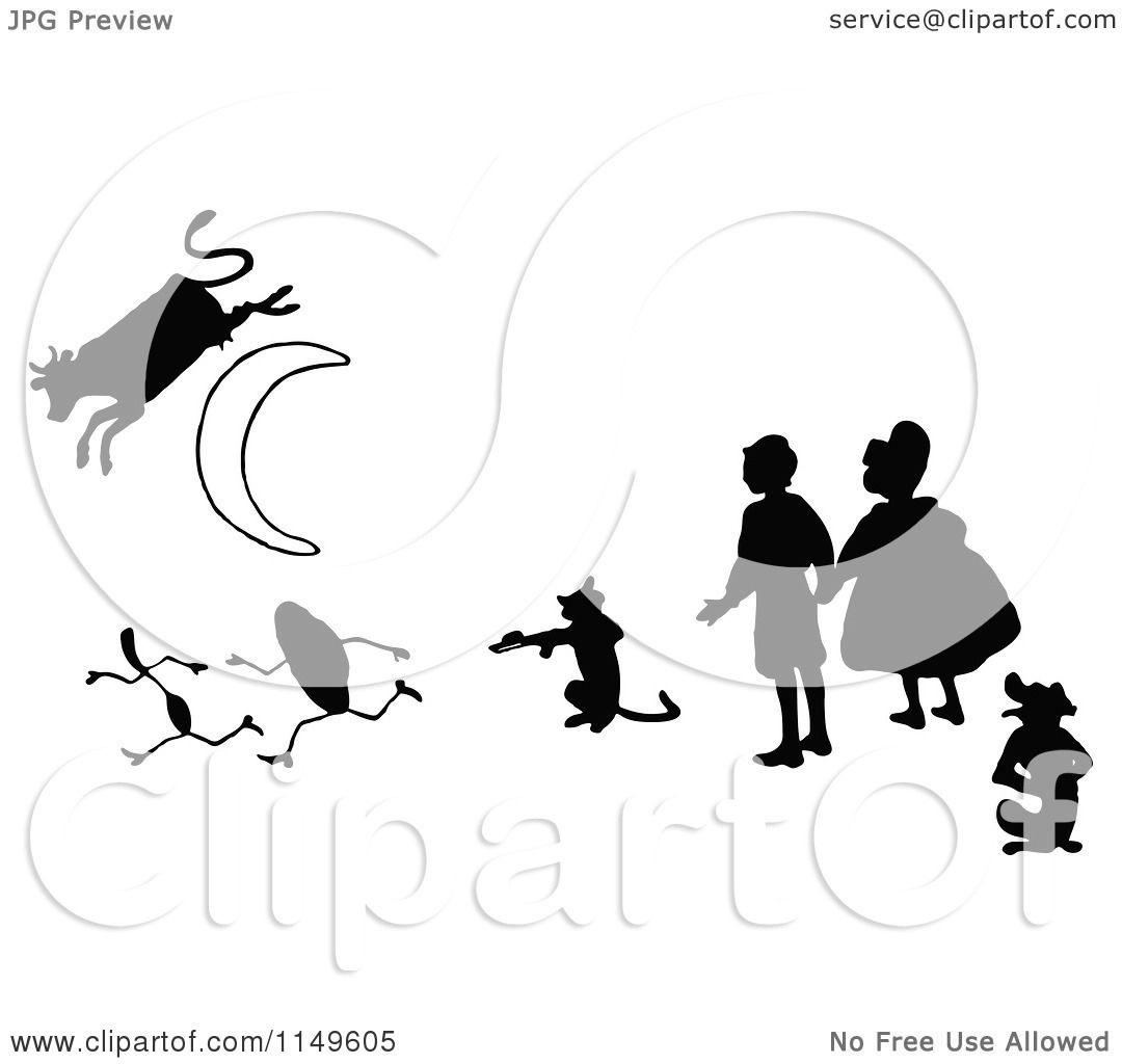 Clipart Of Retro Vintage Black And White Kids With A Cat