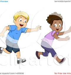 clipart of school children playing tag royalty free vector illustration by bnp design studio [ 1080 x 1024 Pixel ]