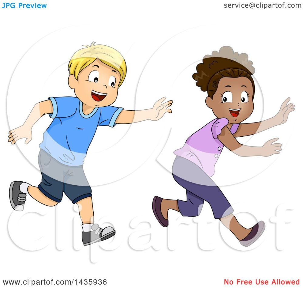 medium resolution of clipart of school children playing tag royalty free vector illustration by bnp design studio