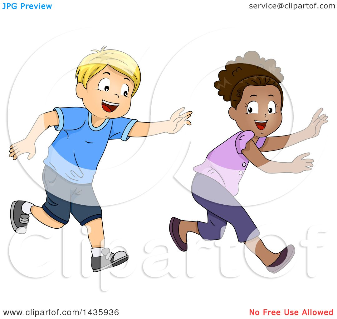 hight resolution of clipart of school children playing tag royalty free vector illustration by bnp design studio