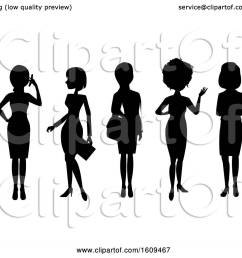 clipart of silhouetted business women royalty free vector illustration by peachidesigns [ 1080 x 1024 Pixel ]