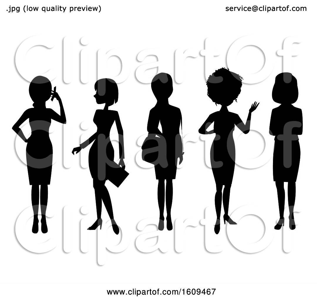 hight resolution of clipart of silhouetted business women royalty free vector illustration by peachidesigns