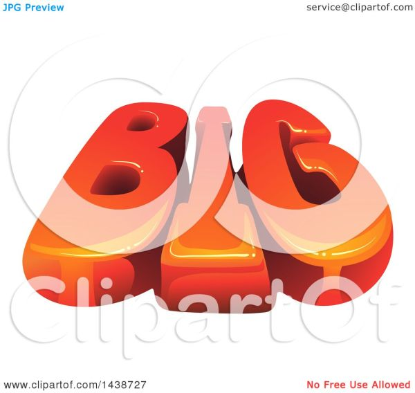 Clipart Of Word Big - Royalty Free Vector Illustration