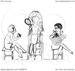 putting makeup clipart illustration reading vector royalty prawny regarding notes