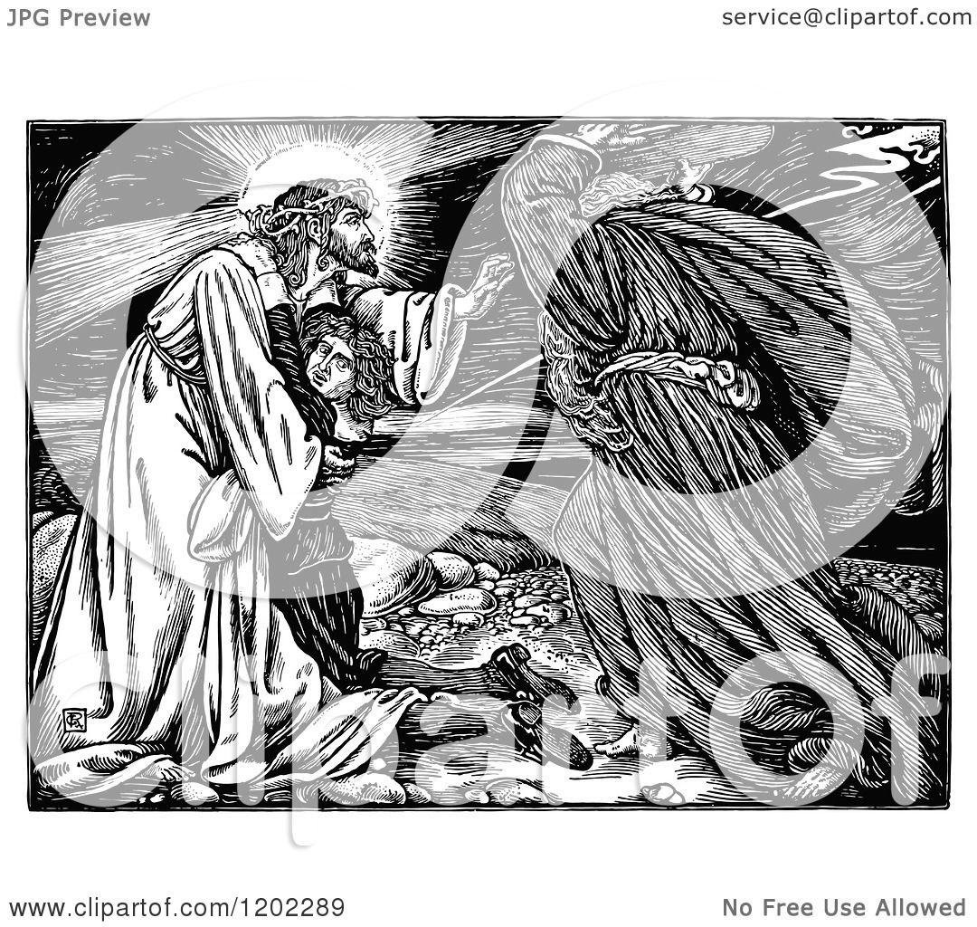 Clipart Of Vintage Black And White Pilgrims Progress