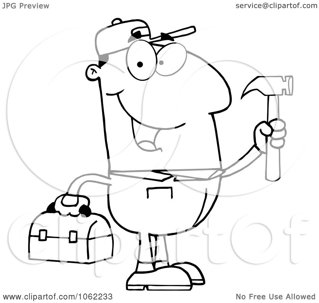 Repair Tools Coloring Crafts And Worksheets For Sketch Coloring Page
