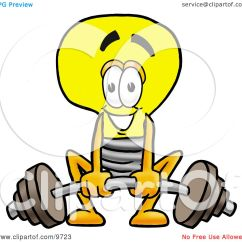 3 Pin Light Bulb Upper Thermostat Electric Water Heater Wiring Diagram Clipart Picture Of A Mascot Cartoon Character Lifting Heavy Barbell By Toons4biz #9723