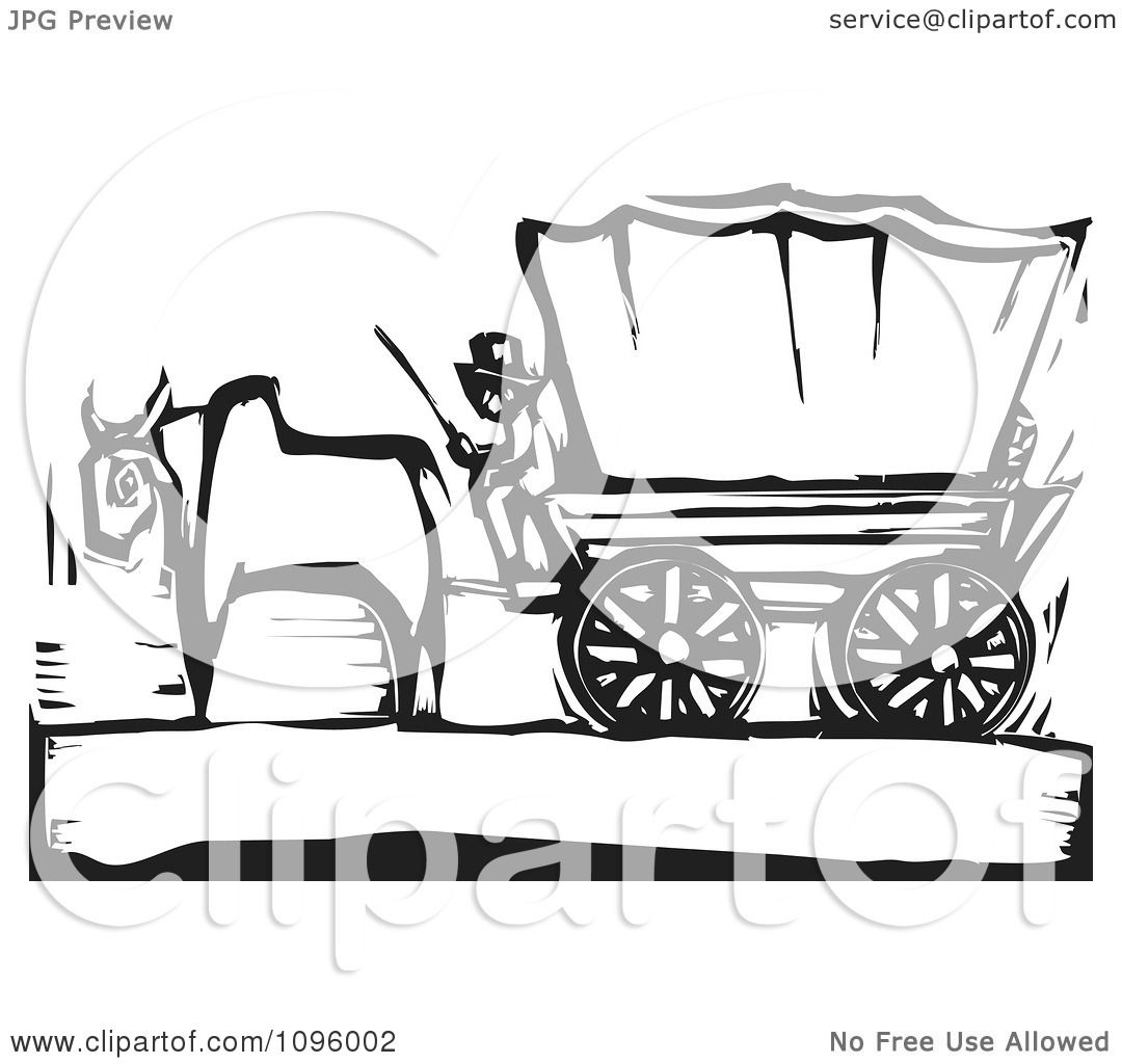 Covered Wagon Coloring Coloring Pages