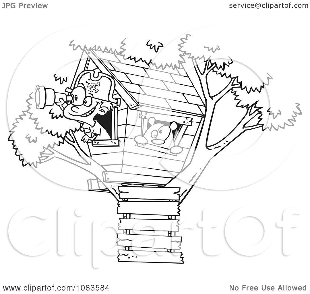 Tree House Clipart