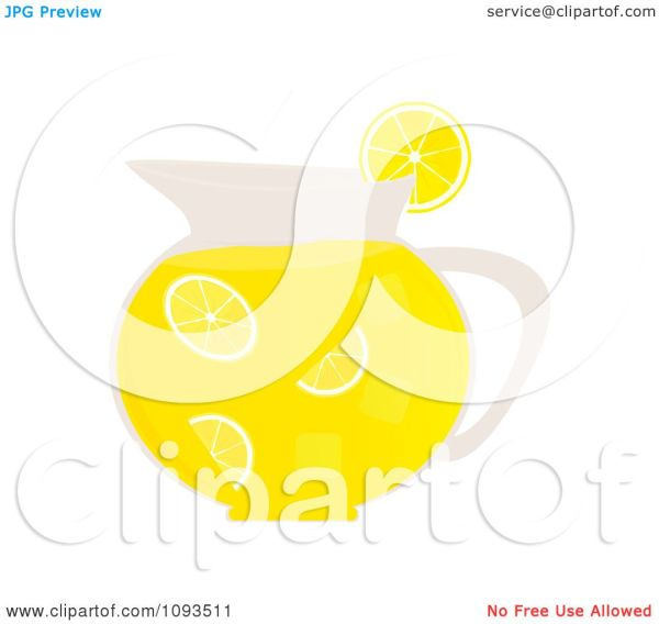 clipart pitcher of lemonade - royalty