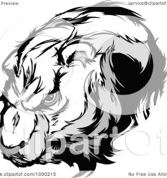 clipart polar bear mascot head royalty free vector illustration by chromaco [ 1080 x 1024 Pixel ]