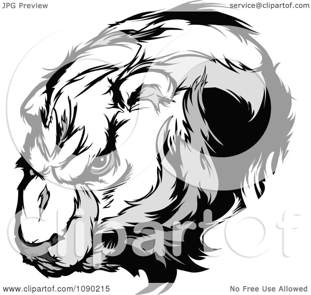 medium resolution of clipart polar bear mascot head royalty free vector illustration by chromaco