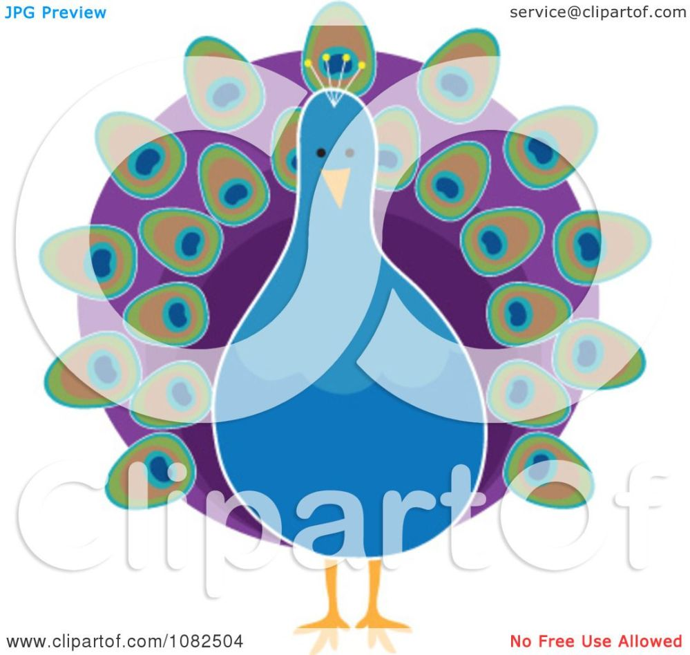 medium resolution of clipart pretty blue peacock with purple plumage royalty free illustration by maria bell