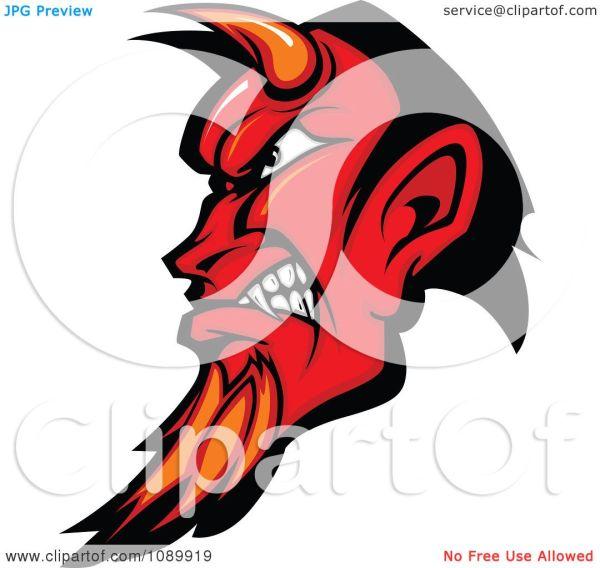 Devil Horns Clip Art Black and White