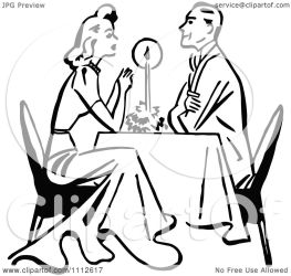 dining clipart candle couple dinner retro candlelight clip vector romantisches royalty prawny cliparts borders clipground