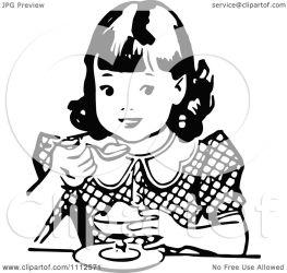 eating dessert clipart illustration retro royalty vector prawny copyright regarding notes