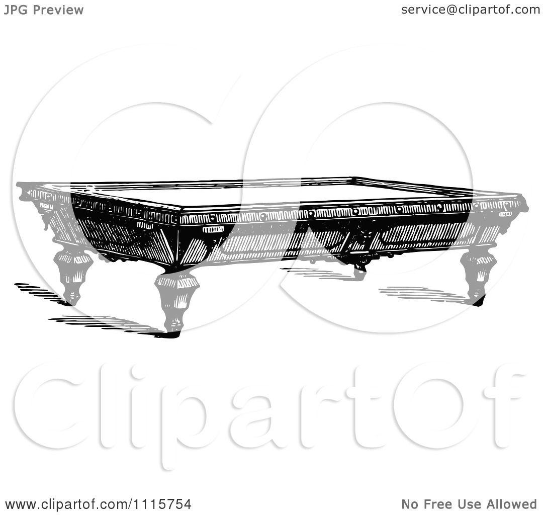 Clipart Retro Vintage Black And White Billiards Snooker