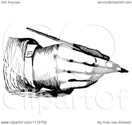 pen writing hand clipart fountain illustration vector retro royalty prawny
