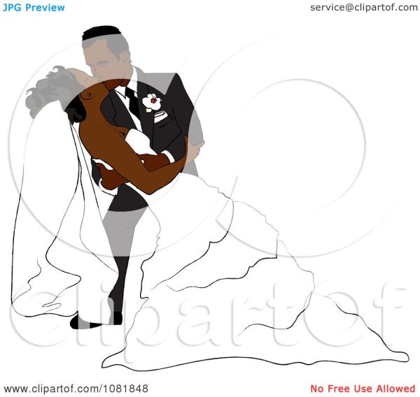 clipart romantic black groom dipping