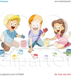 clipart school children hand painting in art class royalty free vector illustration by bnp design [ 1080 x 1024 Pixel ]