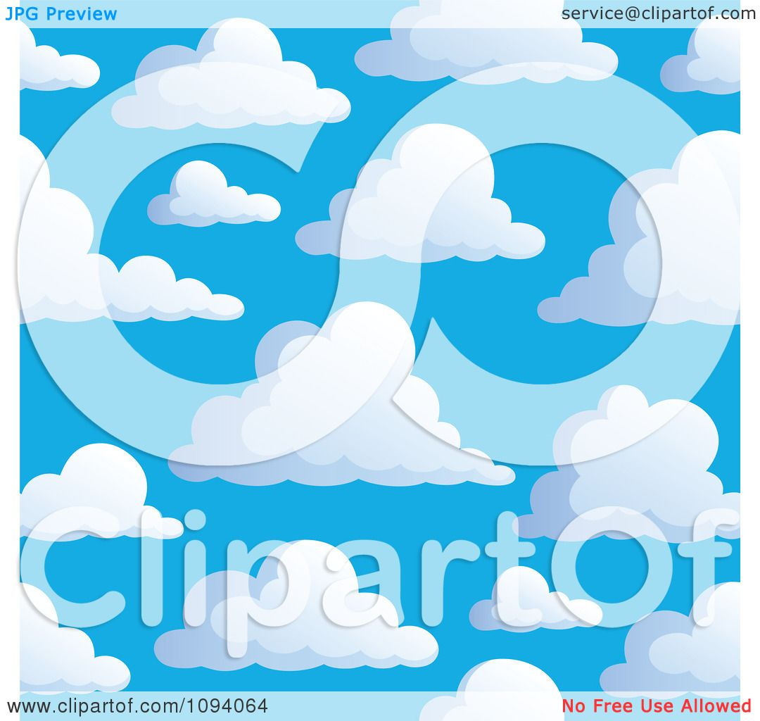 hight resolution of clipart seamless puffy white cloud and blue sky background 2 royalty free vector illustration by visekart