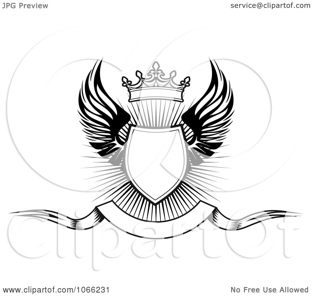 Clipart Shield With Wings 16