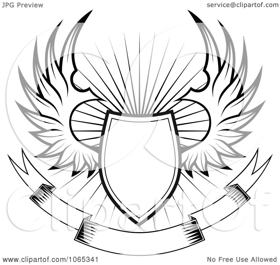 Clipart Shield With Wings 4