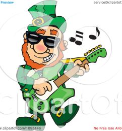 clipart st patricks day leprechaun playing rock and roll st patrock royalty free vector illustration [ 1080 x 1024 Pixel ]