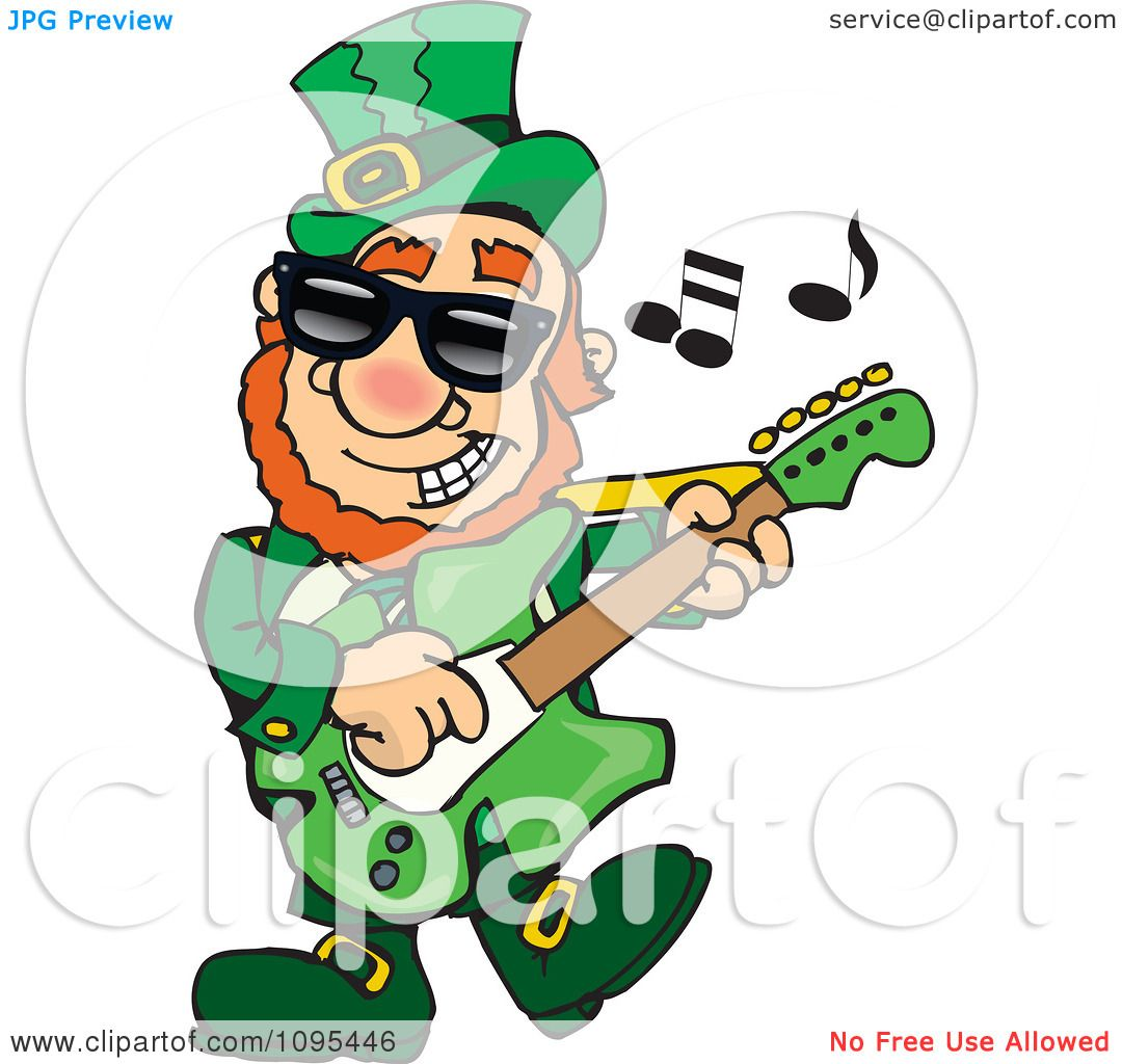 hight resolution of clipart st patricks day leprechaun playing rock and roll st patrock royalty free vector illustration